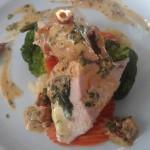 Pierś z kurczaka na szpinaku z sosem z suszonych pomidorów