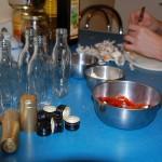 Oliwa z przyprawami - przygotowania