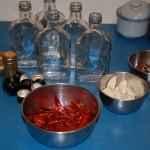 Butelki i przyprawy