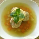 Zupa cytrynowa i klopsiki miętowe