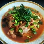 Propozycja podania zupy kimchi